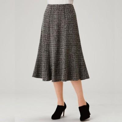 レディースファッション ボトムス ミモレ丈 ツイード調 スカート KN-227-80064 婦人服 レディース ミセス