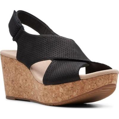 クラークス Clarks レディース サンダル・ミュール ウェッジソール シューズ・靴 Collection Annadel Parker Wedge Sandals Black Suede
