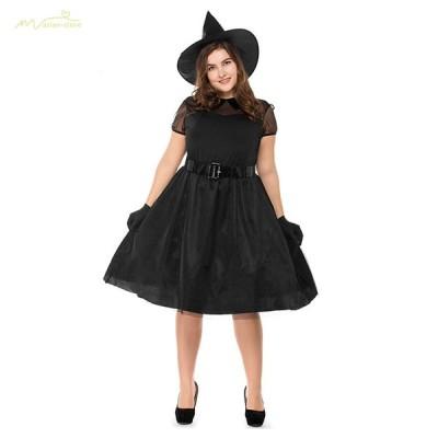 万聖節仮装 ハロウィンク セット 大人用 変装 大きいサイズ Halloween衣装 巫婆 コスプレグッズ イベント 巫女 幽霊 ダークナイト レディース 怖い 舞台演出