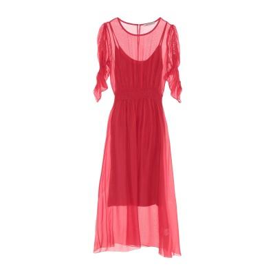 PAOLO CASALINI 7分丈ワンピース・ドレス レッド S レーヨン 70% / シルク 30% 7分丈ワンピース・ドレス