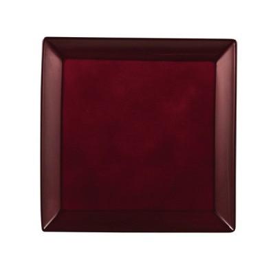 パール金属 漆器彩 クリーンコート角大皿 赤溜