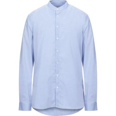 ガッザリーニ GAZZARRINI メンズ シャツ トップス Solid Color Shirt Sky blue