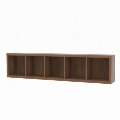 白井産業白井産業 セパルテック 重厚感のある本棚 書庫 セミオーダーラック A4ファイル対応 木製 ダークブラウン 幅1795×奥行283×高さ414mm(直送品)
