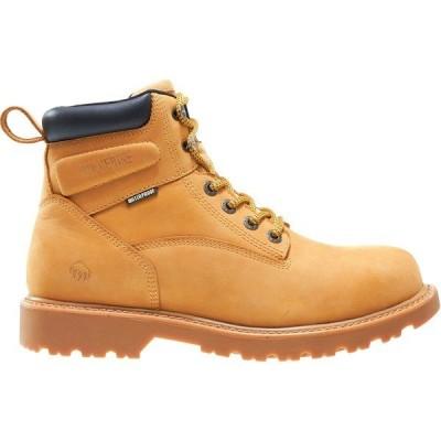 ウルヴァリン ブーツ&レインブーツ シューズ メンズ Wolverine Men's Floorhand 6'' Waterproof Work Boots Wheat
