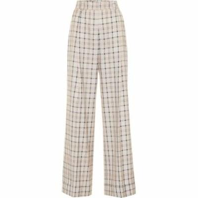 クロエ See By Chloe レディース ボトムス・パンツ Checked high-rise straight pants Multicolor Beige 1