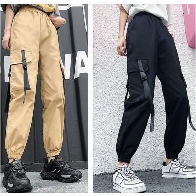 カーゴパンツ ミリタリーパンツ ダンス ズボン ボトムス 衣装 カジュアル 無地 大きいサイズ