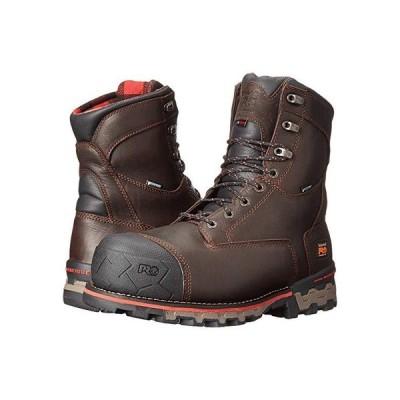 """ティンバーランド 8"""""""" Boondock 1000g Composite Safety Toe Waterproof Insulated メンズ ブーツ Brown Tumbled Leather"""