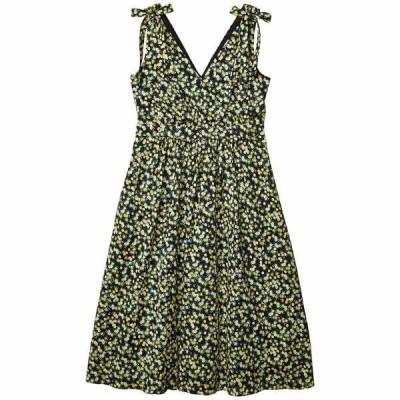 カルバンクライン ワンピース トップス レディース Floral A-Line Dress with Shoulder Ties Black/Popcorn Multi