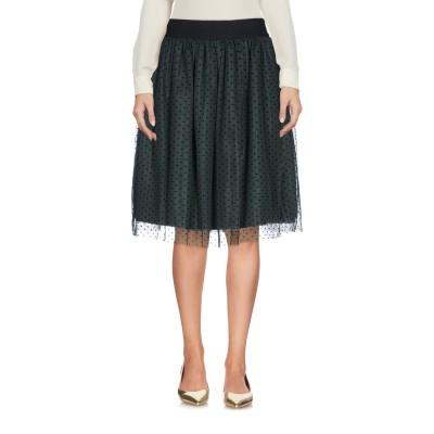 ピンコ PINKO ひざ丈スカート ダークグリーン 40 ナイロン 100% ひざ丈スカート