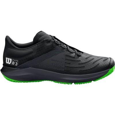 ウィルソン シューズ メンズ テニス Wilson Men's Kaos 3.0 Tennis Shoes Black/Green