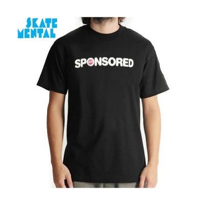 SALE! SKATE MENTAL スケートメンタル スケボー Tシャツ SPONSORED TEE ブラック NO11