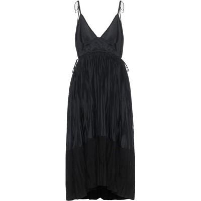 ジル サンダー Jil Sander レディース パーティードレス ミドル丈 ワンピース・ドレス Twill midi dress Black