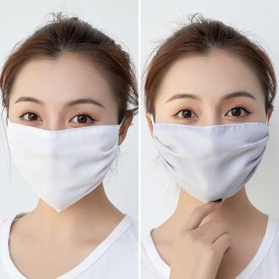 SALE 夏用 接触冷感マスク 3枚  洗える 涼感 涼しい ひんやり 紐調節 セール シフォンマスク 夏用冷感マスク 人気ある8色選択