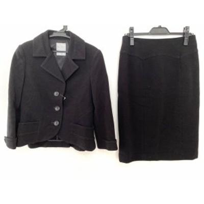 ダーマコレクション DAMAcollection スカートスーツ サイズ7 S レディース 黒【中古】20200509