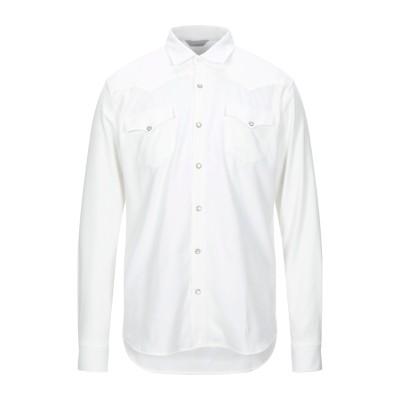SSEINSE シャツ ホワイト L コットン 100% シャツ