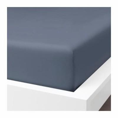 IKEA イケア ボックスシーツ ブルーグレー 青 シングル 90x200cm 90x200cm z00412770 SOMNTUTA