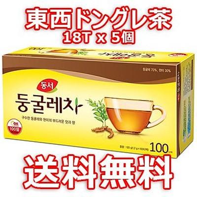 【送料無料】 東西 ドングレ茶 18T 5個 ドゥングレ茶 ドンソ ティーバッグ タイプ 韓国 お茶 茶 健康茶 アマドコロ
