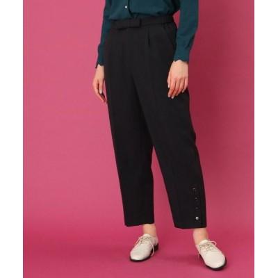 Couture Brooch/クチュールブローチ 【WEB限定サイズ(S・LL)あり/手洗い可】フロントリボンクロップトパンツ ネイビー(093) 38(M)
