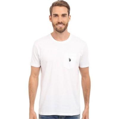 ユーエスポロアッスン U.S. POLO ASSN. メンズ Tシャツ ポケット トップス Solid Crew Neck Pocket T-Shirt White
