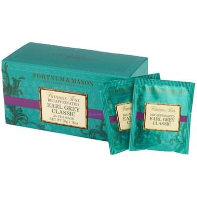 フォートナム&メイソン アールグレイクラシック デカフェ ティーバッグ 25個入り 個包装 並行輸入品