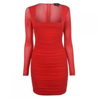 バルドー Bardot レディース パーティードレス ワンピース・ドレス Party Dress Red