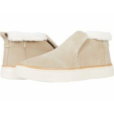 TOMS トムス レディース 女性用 シューズ 靴 スニーカー 運動靴 Paxton Water-Resistant Slip-Ons Cobblestone Suede/Faux【送料無料】