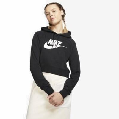 (取寄)ナイキ レディース エッセンシャル クロップ フーディ Nike Women's Essential Crop Hoodie Black White