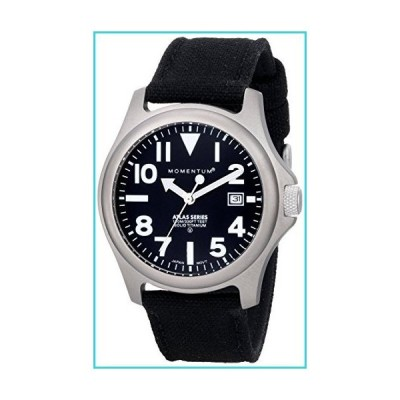 Momentum Men's 1M-SP00B6B Atlas Titanium Watch with Black Canvas Band【並行輸入品】