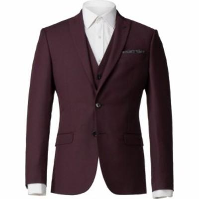 ライムハウス Limehaus メンズ スーツ・ジャケット アウター argyll burgundy twill slim fit jacket Burgundy
