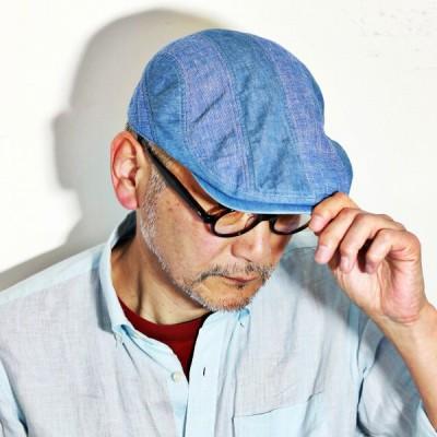 シナコバ ハンチング 帽子 春夏 メンズ デニム sinacova ファッション 綿 麻 青 ブルー