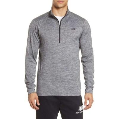 ニューバランス NEW BALANCE メンズ トップス Fortitech Quarter Zip Pullover Grey Heather