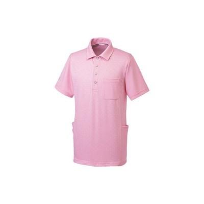 ルコックスポルティフ ユニセックスニットシャツ UZL3061 ピンク M 介護ユニフォーム 1枚(直送品)