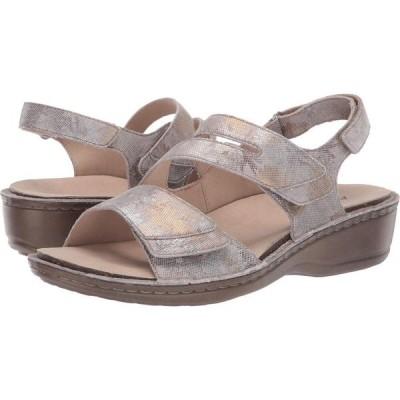 アラヴォン Aravon レディース サンダル・ミュール シューズ・靴 Cambridge Three Strap Silver Floral