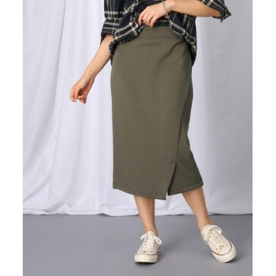 (JET/ジェット)【洗える】スリットデザイン ストレッチタイトスカート/レディース カーキ(027)