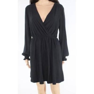 Gold ゴールド ファッション ドレス Planet Gold Womens Dress Black Size Large L Surplice Knit Sheath