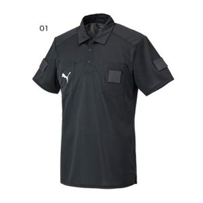 【送料無料】 プーマ PUMA メンズ SSレフリーシャツ サッカーウェア フットサルウェア トップス ポロシャツ 審判用 半袖 656328