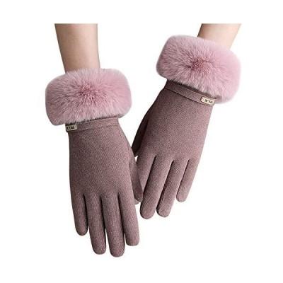 レディース 手袋 Caseeto グローブ 女性用 秋冬手袋 裏地超長起毛 厚手 ふわふわ 防風防寒 タッチバネル対応 軽量 オシャレ ベル