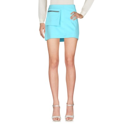CHIARA PERROT ミニスカート スカイブルー 46 コットン 97% / ポリウレタン 3% ミニスカート
