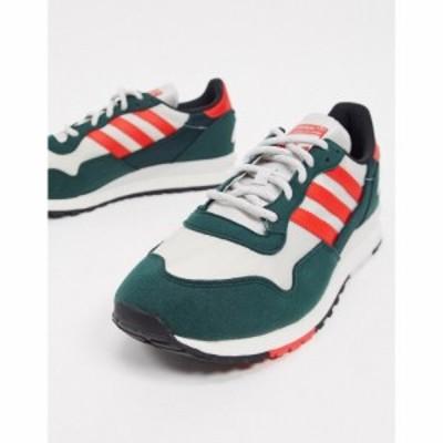 アディダス adidas Originals メンズ スニーカー シューズ・靴 Lowertree Trainers In Green White And Red