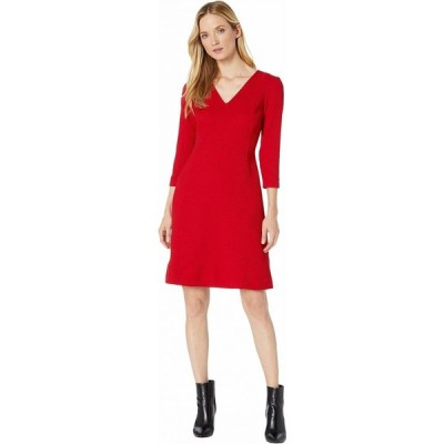 ラルフ ローレン LAUREN Ralph Lauren レディース ワンピース ワンピース・ドレス Dobby Fit-and-Flare Dress Parlor Red