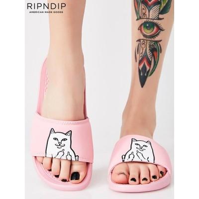 RIPNDIP リップンディップ サンダル 大きいサイズ シャワーサンダル ネコ 猫 Rip N Dip ファックキャット スポーツサンダル ビーチサンダル ピンク RND1372