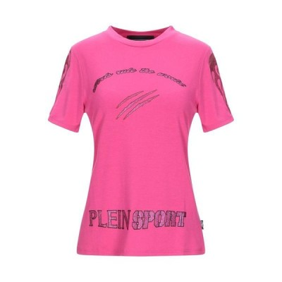 PLEIN SPORT プレインスポーツ Tシャツ  レディースファッション  トップス  Tシャツ、カットソー  半袖 フューシャ