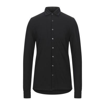 グラン サッソ GRAN SASSO シャツ ブラック 48 コットン 100% シャツ