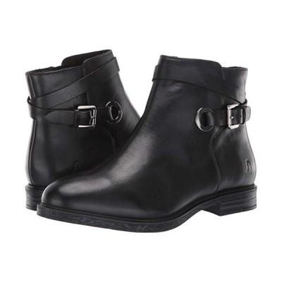 ハッシュパピー Bailey Strap Boot レディース ブーツ Black Leather