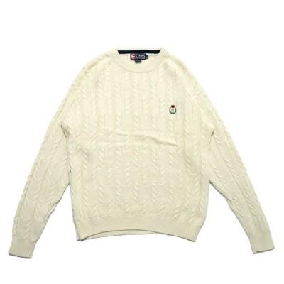 チャップス ラルフローレン ケーブル編み コットン ニット セーター サイズ表記:M
