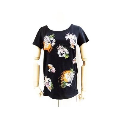 MARC CAIN/マークケイン/フラワー刺繍Tシャツ/JC48-11-J67-395-2