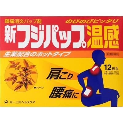 第一三共ヘルスケア 新フジパップ温感 12枚(6×2)【第3類医薬品】
