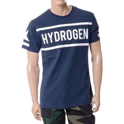 30% OFF ハイドロゲン(Hydrogen) ブランドロゴTシャツ ネイビー