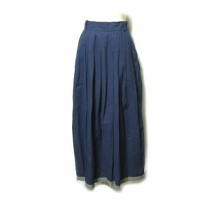 defective product 濃紺 立体ボリュームマキシ丈スカート (navy solid volume long skirt) ディフェクティブ プロダクト 042578【中古】
