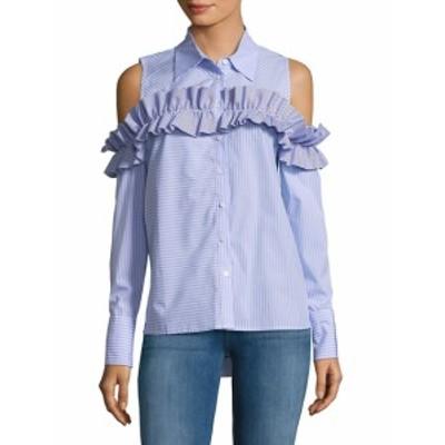 フューモーダ レディース トップス シャツ Ruffle Cold-Shoulder Shirt